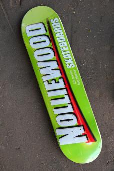 Deck Nolliewood Skateboards Pain green 8,0