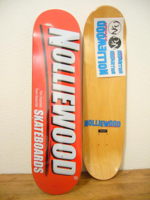 Deck Nolliewood Skateboards Pain red 8,1